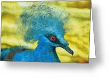 Crowned Pigeon Greeting Card