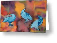 Crow Series 1 Greeting Card by Helen Klebesadel