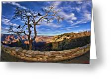 Crows Of The Grand Canyon Greeting Card