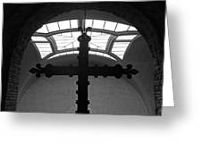Crucifix And Skylight Greeting Card