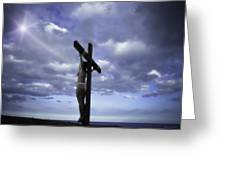 Crucifix In The Light Greeting Card