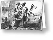 Cruikshank: Headache, 1819 Greeting Card