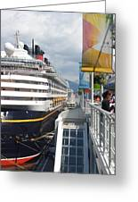 Cruise Dockside In Vancouver Greeting Card