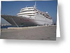 Cruise Ship Greeting Card