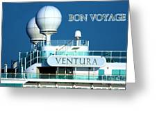 Cruise Ship Ventura's Radar Domes Greeting Card by Terri Waters