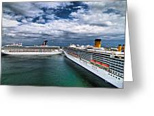 Cruise Ships Port Everglades Florida Greeting Card
