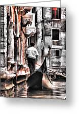 Cruisin The Canals Greeting Card
