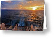 Cruising At Sunset Greeting Card