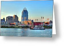 Cruising By Cincinnati Greeting Card by Mel Steinhauer