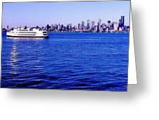Cruising Elliott Bay Greeting Card
