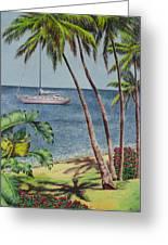 Cruising In Paradise 2 Greeting Card