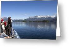 Cruising Inn Doubtful Sound South Island New Zealand Greeting Card