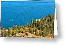 Cruising Jenny Lake Greeting Card