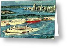Cruising Miami Greeting Card