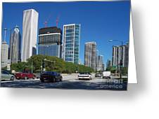 Cruising North On Lake Shore Drive In Chicago Greeting Card