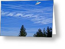 Cruising Over Spokane Greeting Card
