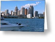 Cruising Past Detroit Greeting Card