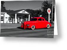 Cruising Route 66 Dwight Il Selective Coloring Digital Art Greeting Card