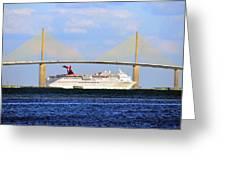 Cruising Tampa Bay Greeting Card by David Lee Thompson