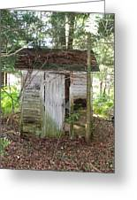 Crumbling Old Outhouse Greeting Card