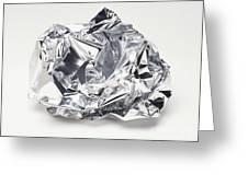 Crumpled Aluminum Foil Greeting Card