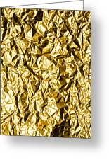 Crumpled Gold Foil Greeting Card