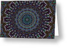 Crushed Blue Velvet Kaleidoscope Greeting Card