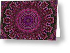 Crushed Pink Velvet Kaleidoscope Greeting Card