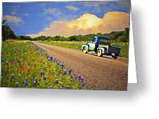 Crusin' The Hill Country In Spring Greeting Card