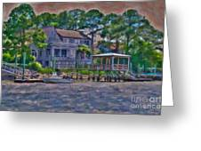 Crusing The Icw At Sullivan's Island Sc Greeting Card