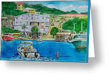 Cruz Bay St. Johns Virgin Islands Greeting Card