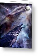 Cry Of The Raven Greeting Card