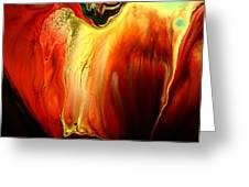 Crying For Love Modern Abstract Art By Kredart Greeting Card