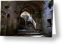 Crypt Of The Martyr San Marciano In Syracuse Greeting Card