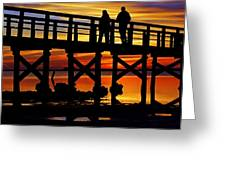 Crystal Beach Pier At Sunset II Greeting Card