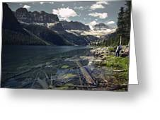 Crystal Clear Mountain Lake Greeting Card
