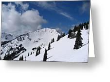 Crystal Mountain Bluest Sky Greeting Card