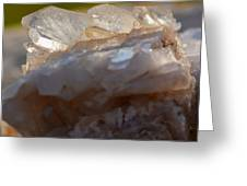 Crystal On Rock Greeting Card
