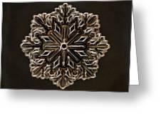 Crystal Snowflake Greeting Card