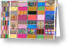Crystal Stone Collage Layered In Small And Medium Sizes Variety Of Shades And Tones From Reiki Heali Greeting Card