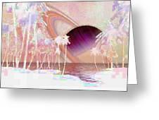 Crystal Sunset Greeting Card
