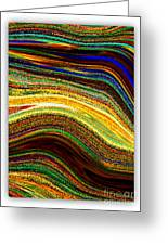 Crystal Waves Abstract 2 Greeting Card