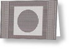 Crystal White And Gray Dots Design Pattern Shade Deco Decoration Greeting Card