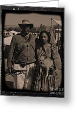Csa Cavalryman And Wife Greeting Card
