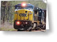 Csx 7363 Greeting Card