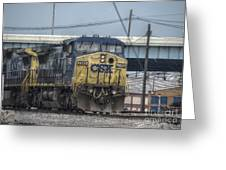 Csx 7745 Engine 01 Greeting Card