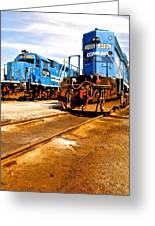 Csx Railroad Greeting Card