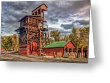 Coal Tipple Greeting Card