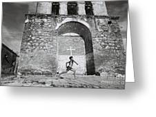 Cuba - Boy And Church Greeting Card