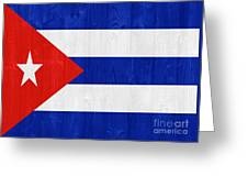 Cuba Flag Greeting Card